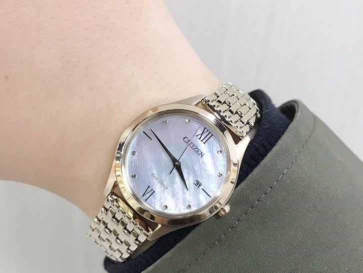 Đồng hồ Citizen EW2533-89D tích hợp năng lượng ánh sáng - Ảnh 4