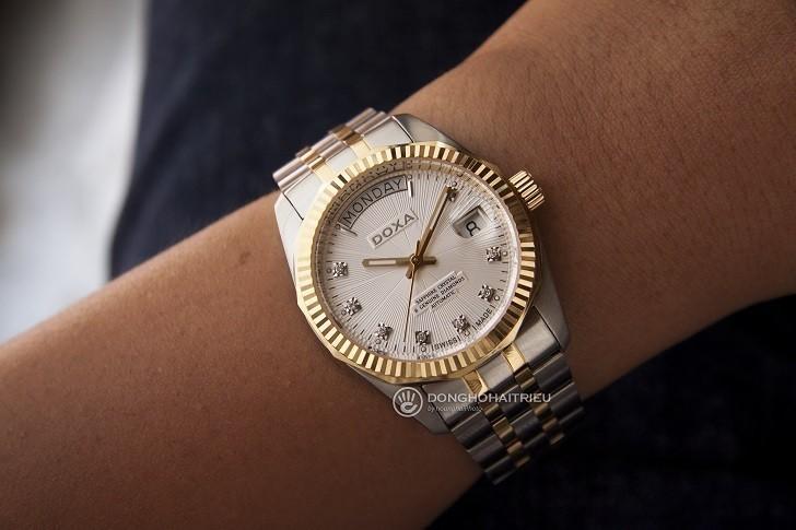 Đánh giá nhanh đồng hồ Doxa D135TWH | Swiss Made Thụy Sỹ - Ảnh: 7