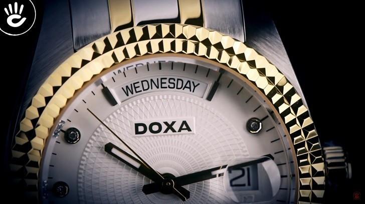 Đồng hồ Doxa D141TWH: vành khía, máy cơ, kính cyclops,... - Ảnh: 11
