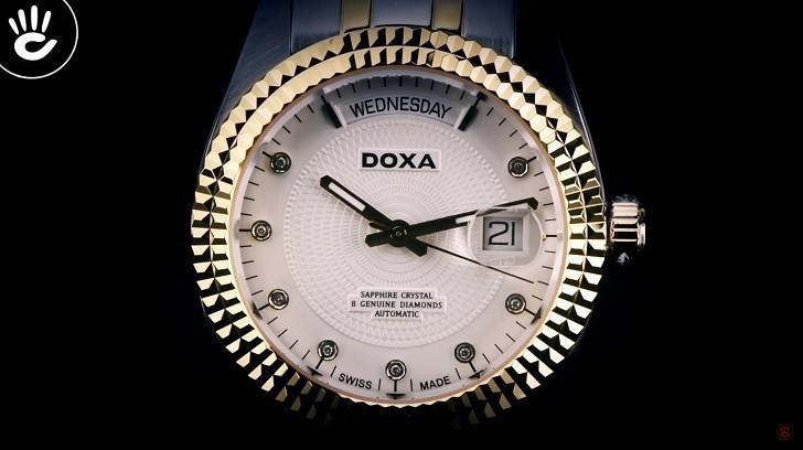 Đồng hồ Doxa D141TWH: vành khía, máy cơ, kính cyclops,... - Ảnh: 5