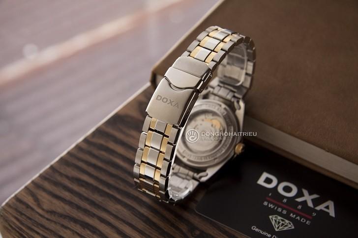 Đồng hồ Doxa D141TWH: vành khía, máy cơ, kính cyclops,... - Ảnh: 6