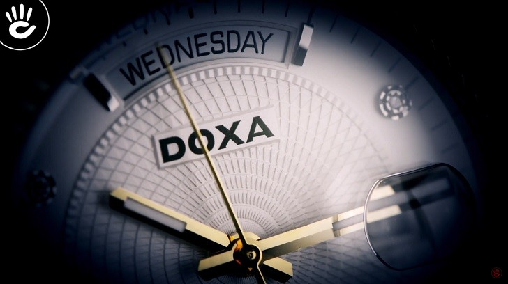 Đồng hồ Doxa D141TWH: vành khía, máy cơ, kính cyclops,... - Ảnh: 7