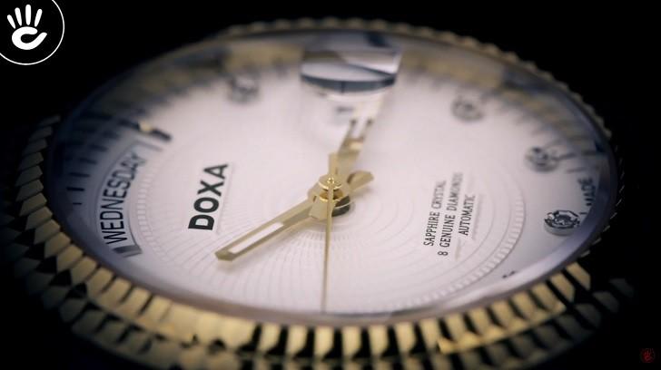 Đồng hồ Doxa D141TWH: vành khía, máy cơ, kính cyclops,... - Ảnh: 8