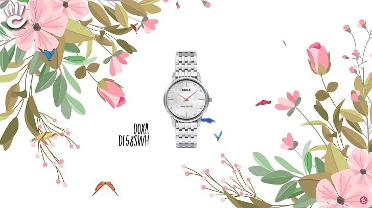 Đồng hồ Doxa D158SWH mặt xà cừ, 8 viên kim cương thật - Ảnh: 10