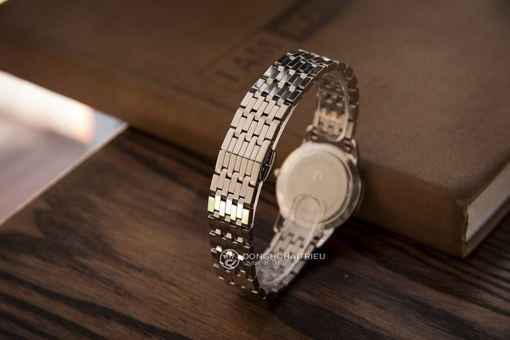 Đồng hồ Doxa D158SWH mặt xà cừ, 8 viên kim cương thật - Ảnh: 7