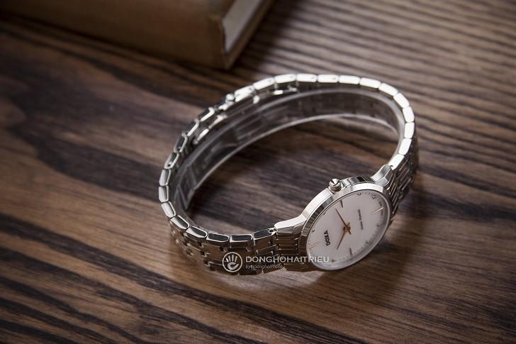 Đồng hồ Doxa D158SWH mặt xà cừ, 8 viên kim cương thật - Ảnh: 8
