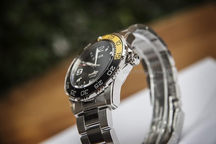 Đồng hồ Doxa D162SBY có bezel xoay, dạ quang Super-LumiNova - Ảnh: 11