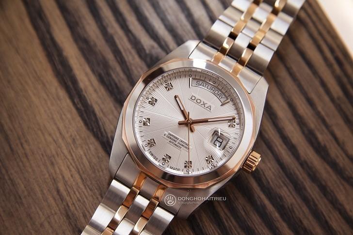 Đồng hồ Doxa D175RWH máy Automatic, đính 8 viên kim cương - Ảnh: 2