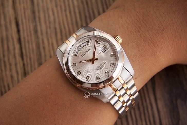 Đồng hồ Doxa D175RWH máy Automatic, đính 8 viên kim cương - Ảnh: 6