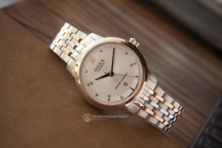 Đồng hồ Doxa D220RSV máy cơ, đính 14 viên kim cương thật - Ảnh: 1