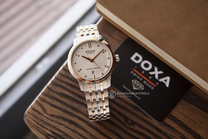 Đồng hồ Doxa D220RSV máy cơ, đính 14 viên kim cương thật - Ảnh: 4