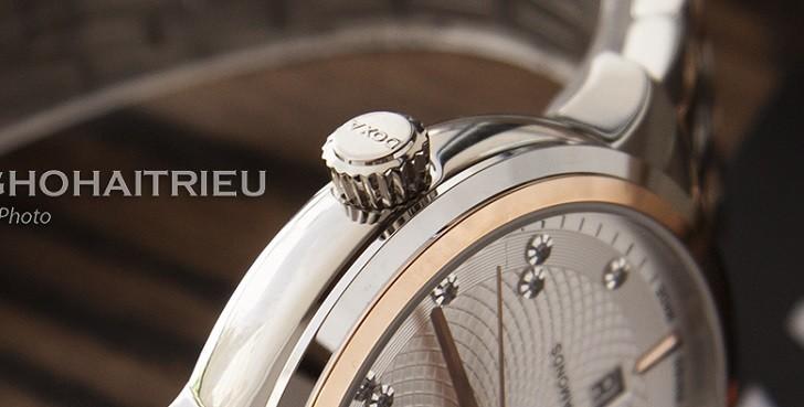 Đồng hồ Doxa D220RSV máy cơ, đính 14 viên kim cương thật - Ảnh: 5