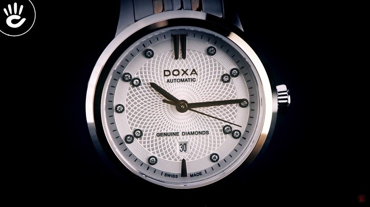 Đồng hồ Doxa D220RSV máy cơ, đính 14 viên kim cương thật - Ảnh: 6