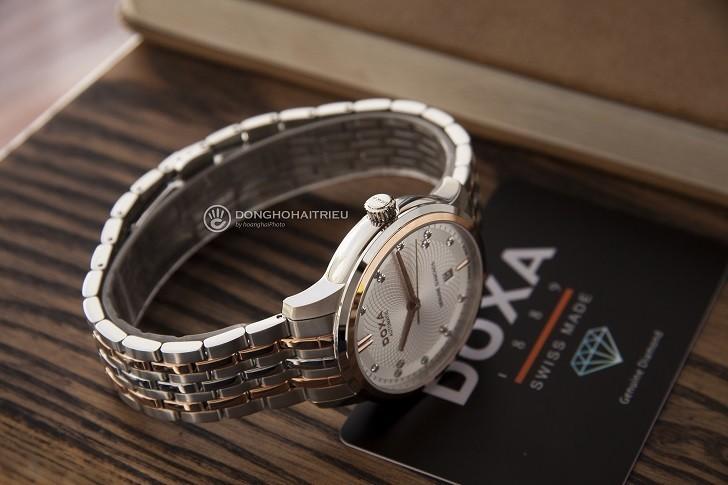 Đồng hồ Doxa D220RSV máy cơ, đính 14 viên kim cương thật - Ảnh: 8