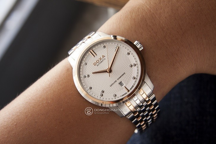 Đồng hồ Doxa D220RSV máy cơ, đính 14 viên kim cương thật - Ảnh: 9