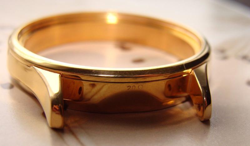 Vỏ đồng hồ mạ lớp vàng hồng 18k dày 20 micromet