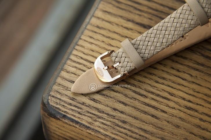 Doxa D217RIY đính 8 viên kim cương, dùng dây đan thủ công - Ảnh: 5