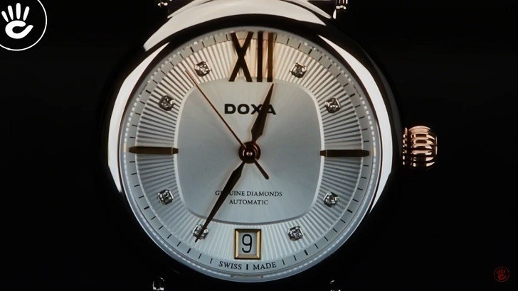 Khám Phá Vẻ Đẹp Đồng Hồ Doxa D184RSD Có 8 Viên Kim Cương Ảnh 2