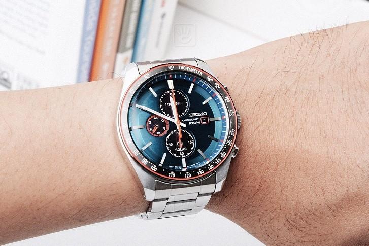 Đồng hồ Seiko SSC717P1 công nghệ Solar, tính năng thể thao - Ảnh 6