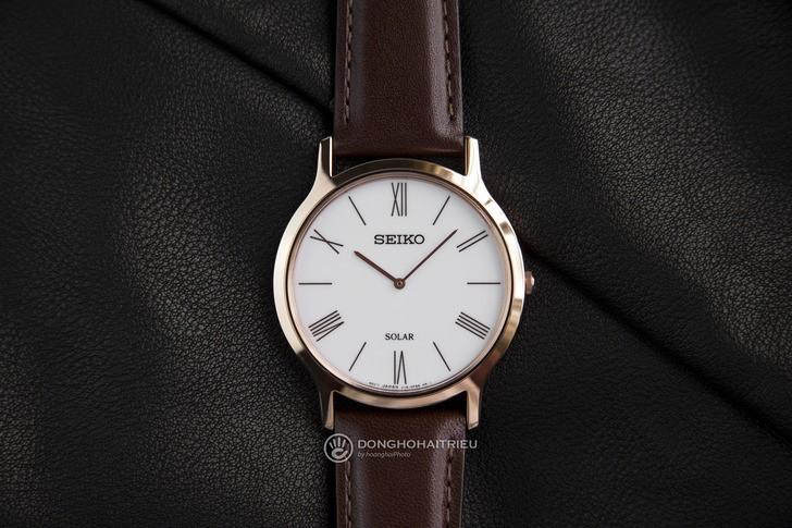 Đồng hồ Seiko SUP854P1 giá rẻ, bộ máy năng lượng ánh sáng - Ảnh 1