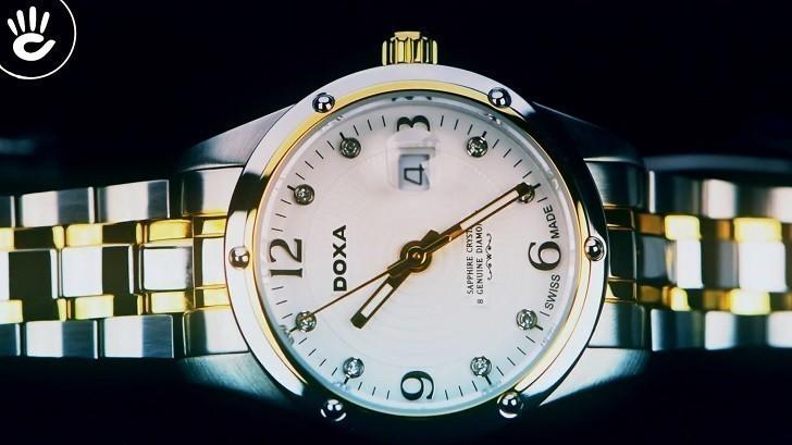 5 chi tiết đắt giá trên đồng hồ Doxa D172TWH dành cho nữ - Ảnh: 2
