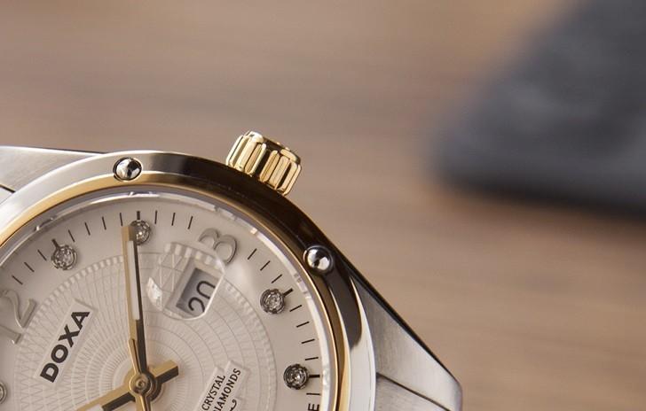5 chi tiết đắt giá trên đồng hồ Doxa D172TWH dành cho nữ - Ảnh: 7