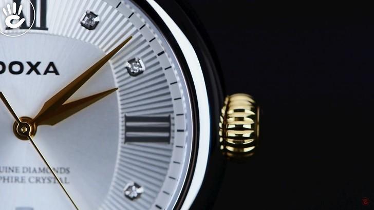 8 viên kim cương thật trên đồng hồ Doxa D186TSD (Thụy Sỹ) - Ảnh: 2