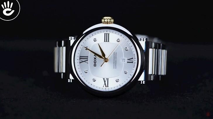 8 viên kim cương thật trên đồng hồ Doxa D186TSD (Thụy Sỹ) - Ảnh: 3