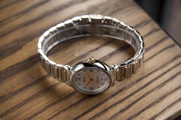 8 viên kim cương thật trên đồng hồ Doxa D186TSD (Thụy Sỹ) - Ảnh: 4
