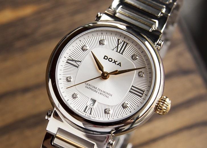 8 viên kim cương thật trên đồng hồ Doxa D186TSD (Thụy Sỹ) - Ảnh: 6