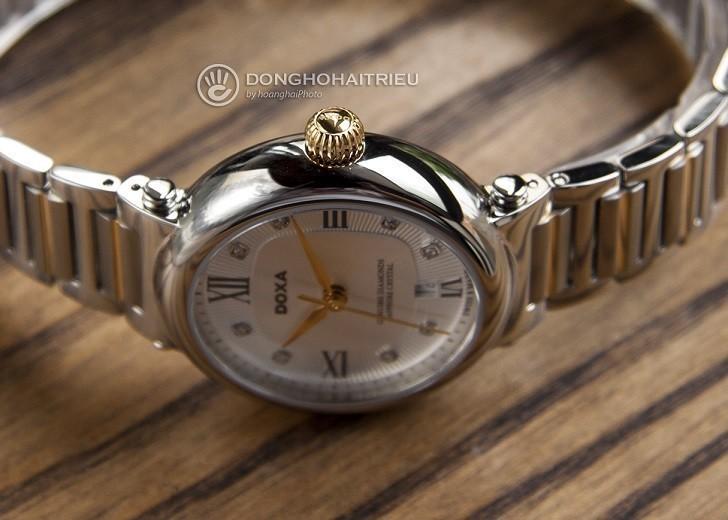 8 viên kim cương thật trên đồng hồ Doxa D186TSD (Thụy Sỹ) - Ảnh: 7