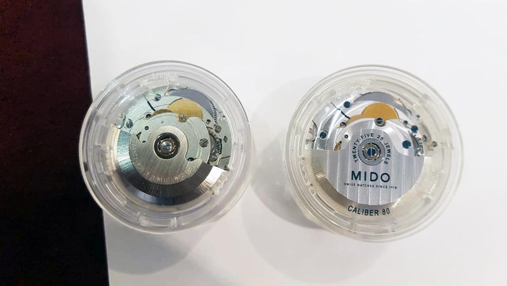 "ETA 2824-2 cấp ""standard"" và máy Mido Caliber 80"