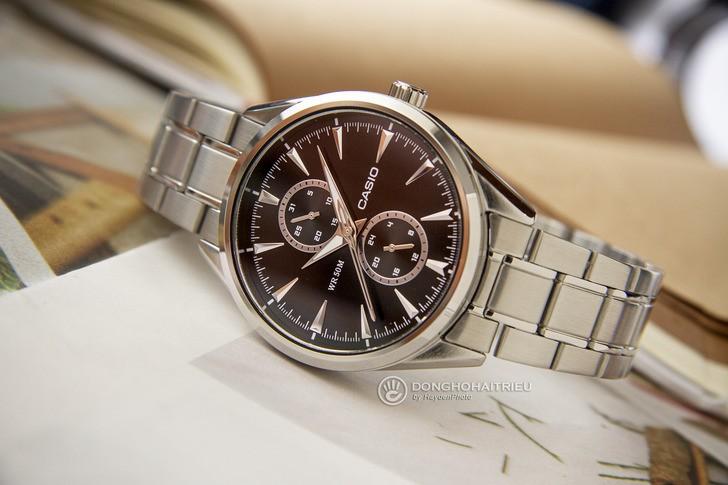 Đồng hồ Casio MTP-SW340D-1AVDF kim loại mạ bạc sang trọng - Ảnh 1