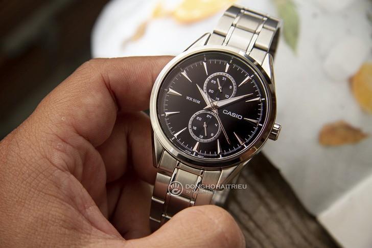 Đồng hồ Casio MTP-SW340D-1AVDF kim loại mạ bạc sang trọng - Ảnh 2