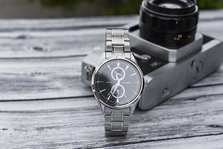Đồng hồ Casio MTP-SW340D-1AVDF kim loại mạ bạc sang trọng - Ảnh 3