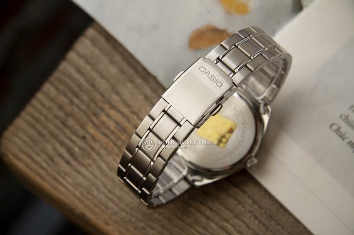 Đồng hồ Casio MTP-SW340D-1AVDF kim loại mạ bạc sang trọng - Ảnh 4