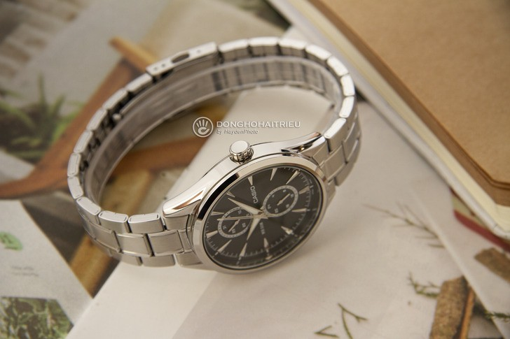 Đồng hồ Casio MTP-SW340D-1AVDF kim loại mạ bạc sang trọng - Ảnh 5