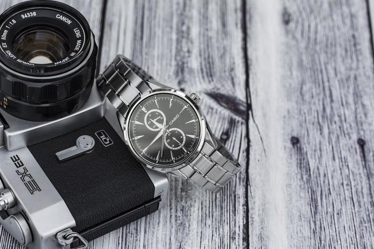 Đồng hồ Casio MTP-SW340D-1AVDF kim loại mạ bạc sang trọng - Ảnh 6
