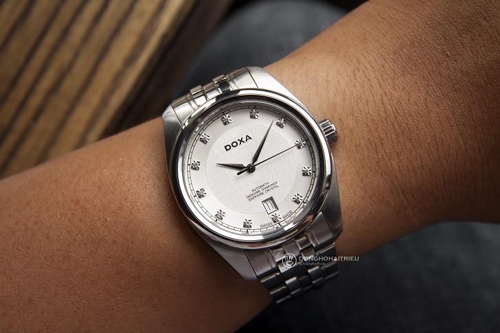 Đánh giá đồng hồ Doxa D149SWH máy cơ, đính 8 viên kim cương - Ảnh: 1