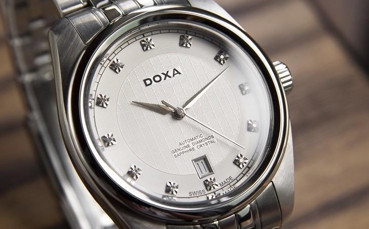 Đánh giá đồng hồ Doxa D149SWH máy cơ, đính 8 viên kim cương - Ảnh: 4