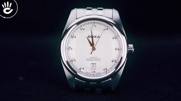Đánh giá đồng hồ Doxa D149SWH máy cơ, đính 8 viên kim cương - Ảnh: 5