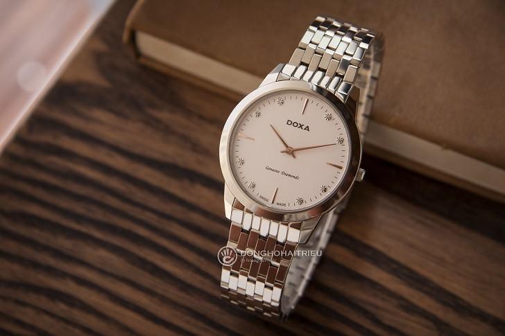 Đồng hồ Doxa D157SWH siêu mỏng (dưới 6mm) dành cho nam - Ảnh: 7