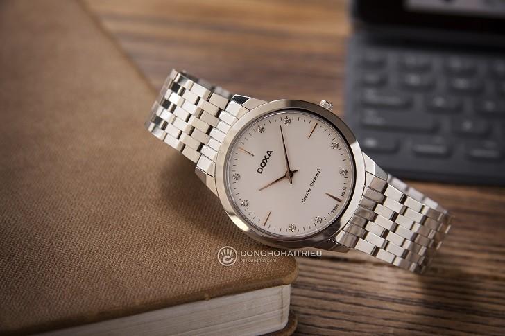 Đồng hồ Doxa D157SWH siêu mỏng (dưới 6mm) dành cho nam - Ảnh: 8