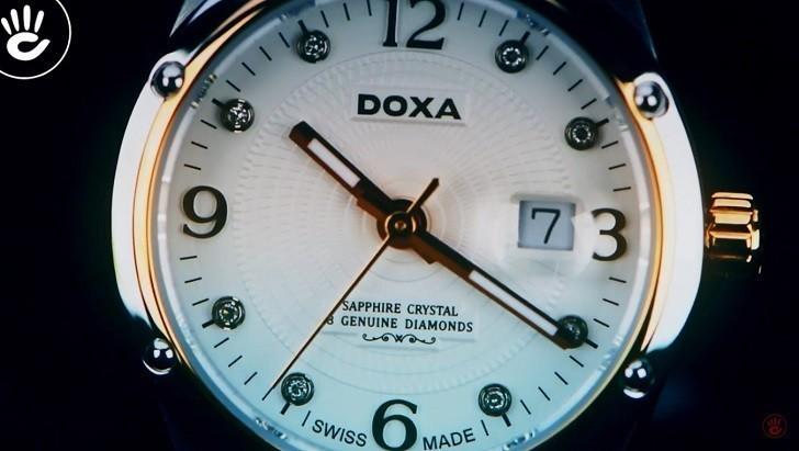 Đồng Hồ Doxa D172RWH Vàng Hồng Nổi Bật 8 Viên Kim Cương Ảnh 4