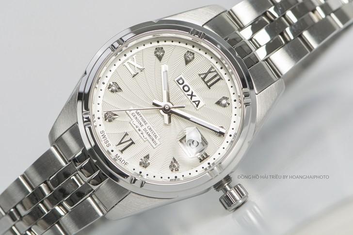 Đồng hồ Doxa D174SCM đính 8 viên kim cương, có dạ quang - ảnh: 1