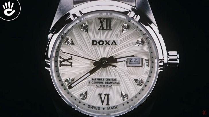 Đồng hồ Doxa D174SCM đính 8 viên kim cương, có dạ quang - ảnh: 2
