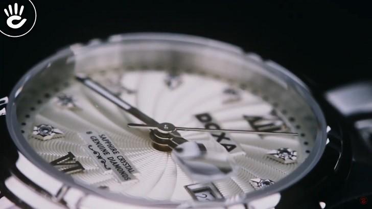 Đồng hồ Doxa D174SCM đính 8 viên kim cương, có dạ quang - ảnh: 3