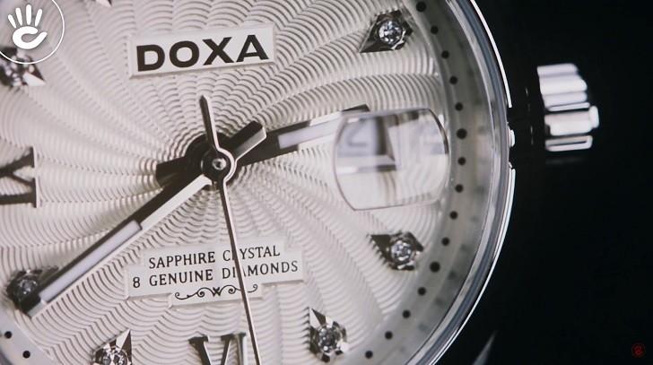 Đồng hồ Doxa D174SCM đính 8 viên kim cương, có dạ quang - ảnh: 4