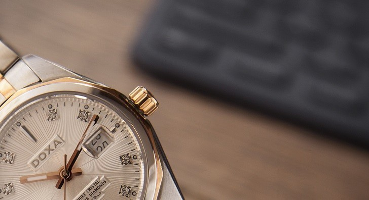 Đồng hồ Doxa D176RWH nổi tiếng về đính kim cương thật - Ảnh: 4