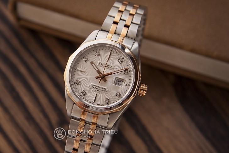 Đồng hồ Doxa D176RWH nổi tiếng về đính kim cương thật - Ảnh: 8
